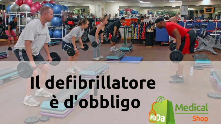 uso defibrillatore in palestra