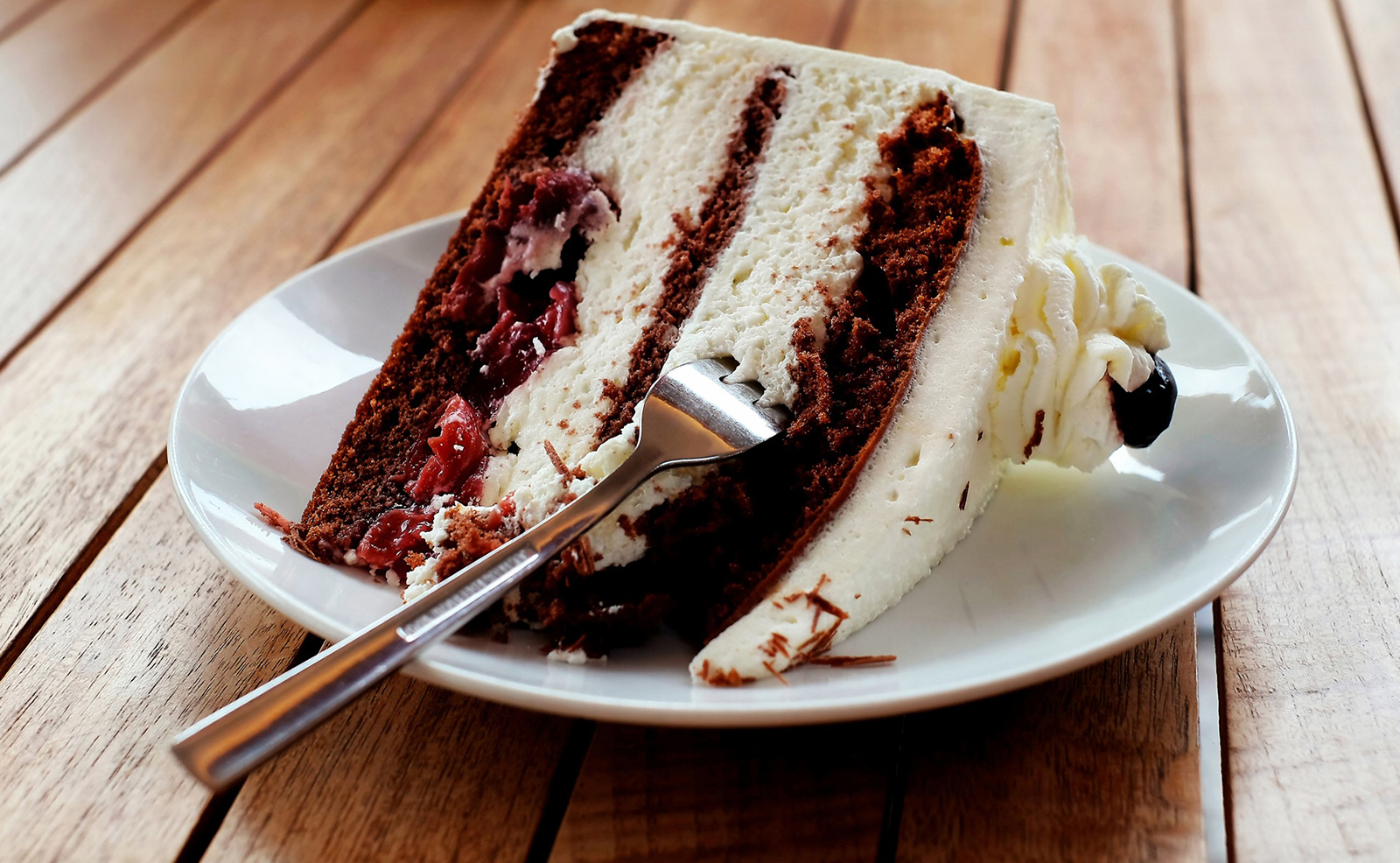 fetta di torta ipercalorica
